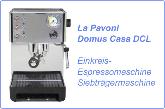 la pavoni domus casa dcl espressomaschine siebtr ger ausstellungsst ck ebay. Black Bedroom Furniture Sets. Home Design Ideas