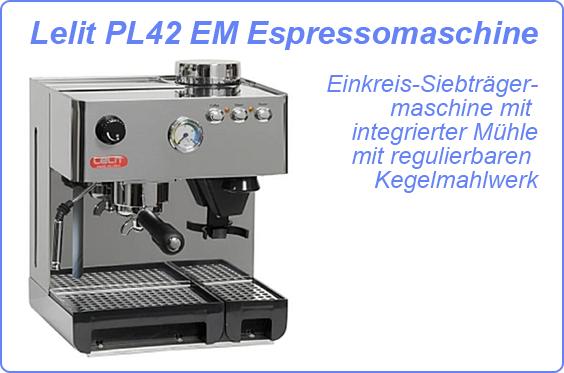 lelit pl42 em espressomaschine siebtr germaschine mit m hle demoware ebay. Black Bedroom Furniture Sets. Home Design Ideas